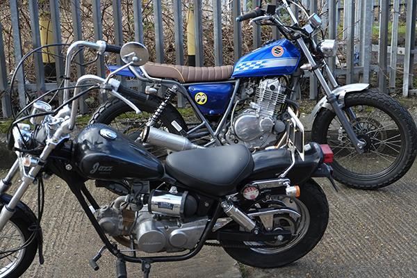 Tidy TU250 & rare Honda Jazz..