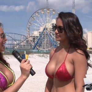 Bikini Beach - Angelina interviews Nikki Rae
