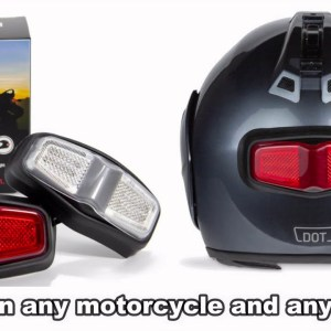 inView wireless brake and turn signal that fits any helmet and motorcycle.