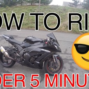 How to ride a MOTORCYCLE in under 5 minutes!
