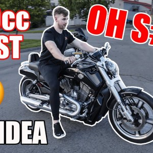 Teaching A Friend HOW TO RIDE A MOTORCYCLE On A Harely Davidson V-ROD MUSCLE *SCARY* | First Ride