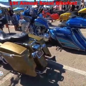 1st Annual Socal Bikefest Family Fun Great venue come support local vendors Harley Davidson part1