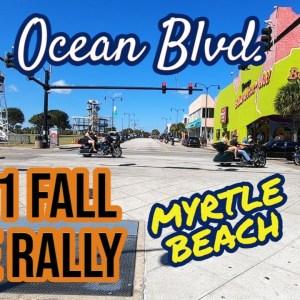 Fall Bike Week 2021 on Ocean BLVD. In MYRTLE BEACH RALLY