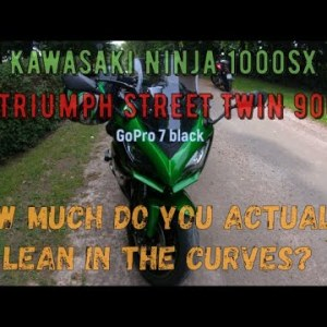 How much do you actually lean the motorcycle when you ride?