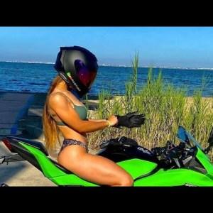 Sexy Girls Riding Bikes | Hot Lady Biker😍 Biker Girls