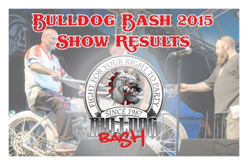 Bulldog Bash 2015 Show Results