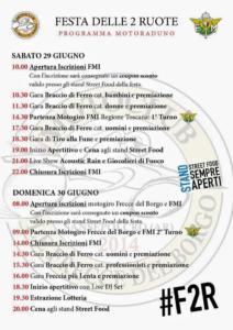 Festa delle 2 Ruote di Sansepolcro 29-30 Giugno 2019