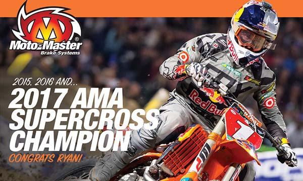 O Ryan Dungey Πρωταθλητής AMA Supercross για τρίτη συνεχή χρονιά