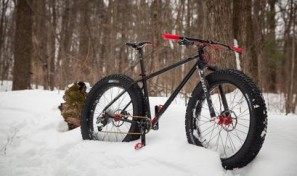 Rad bicycle company's The Grizz fatbike, snow ride