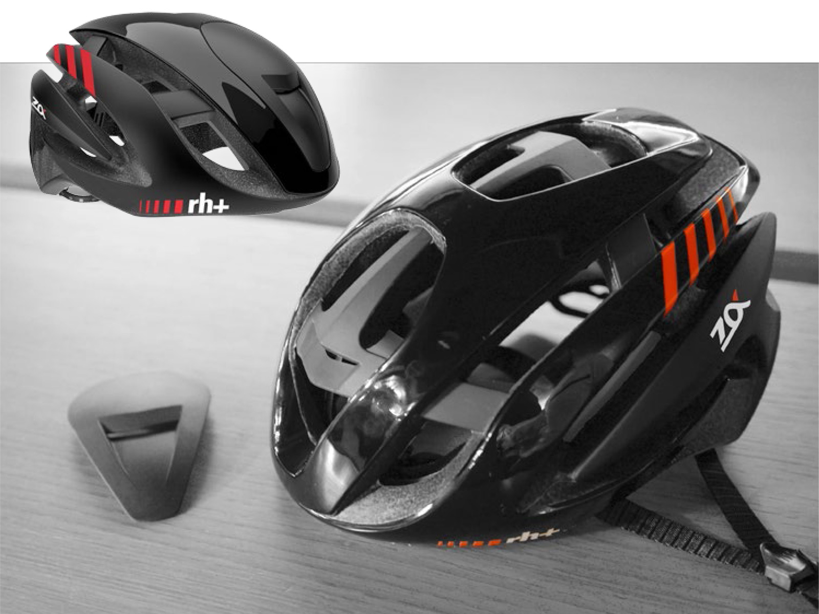 cee38f754 rh+ Z-Alpha Black MIPS helmet rh+ -Z-Alpha aero-helmet removable-aero-cover