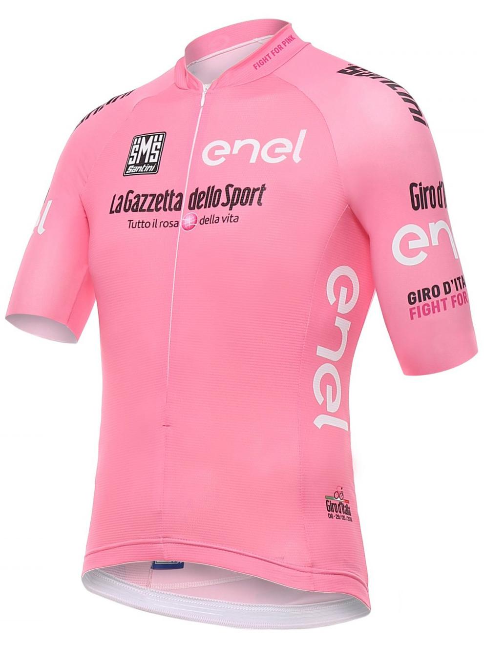 4c5dd7c61 Santini giro-d-italia maglia-rosa leader-jersey-front ...