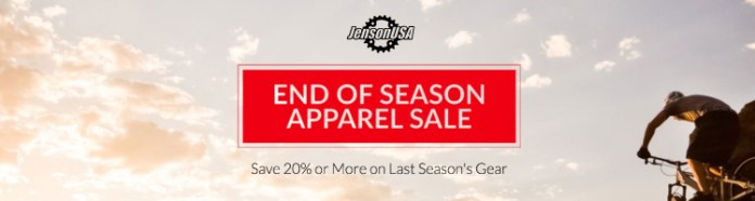 JensonUSA end of season road cycling and mountain bike clothing sale offers deals on cycling gear and apparel