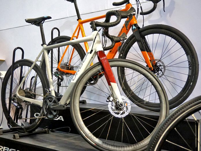 Orbea Gain aluminum road e-bike e-road bike electric-assist road bike stealth battery motor integration Eurobike