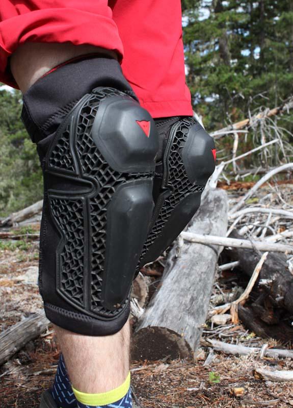 Dainese Enduro Knee Guards, on legs