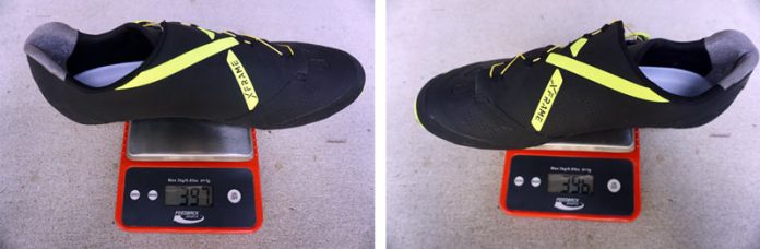 how much does cycling shoe weight matter