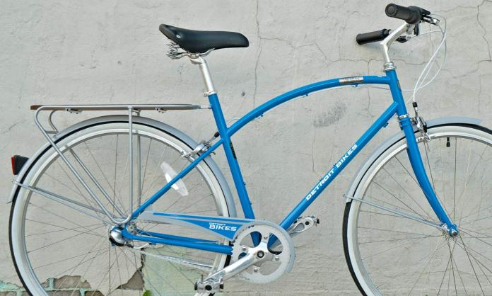 Detroit Lions A-Type Detroit Bikes made in the USA limited edition Lions A-Type chromoly steel city commuter cruiser bike