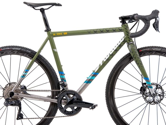 Mosaic XT-1 ti titanium CX cyclocross cross bike advocating fundraising for the Wounded Warrior Project