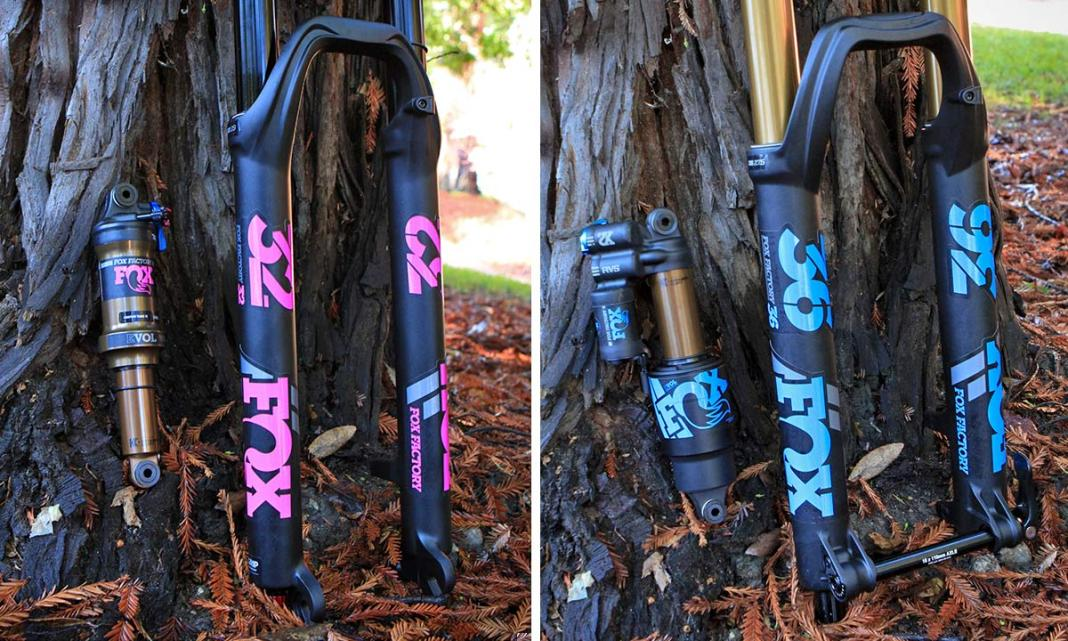 2019 Fox Heritage Decal Kits add color to forks & shocks