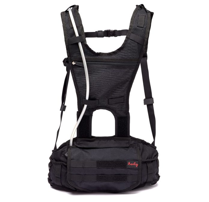 henty enduro 2 hydration hip backpack with shoulder straps and low lumbar design