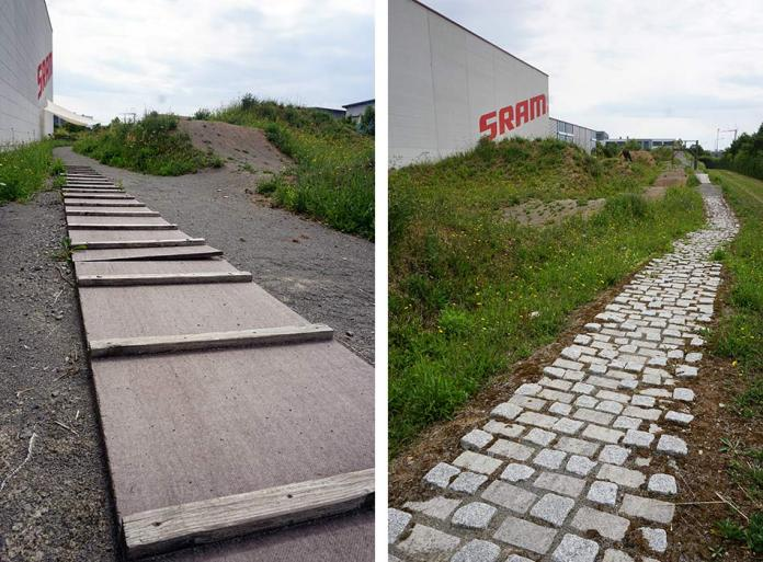 SRAM Schweinfurt Headquarters tour shows where they do drivetrain development and backyard test track and pump track