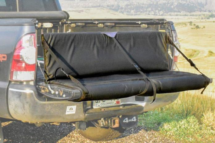 SwitchBack Tailgate Pads for trucks, with built-in seating
