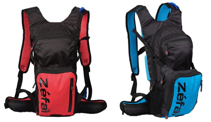 Zefal ZHydro is a lightweight unstructured mountain bike and hiking hydration pack with lots of pockets