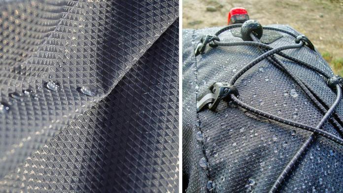 Geosmina lightweight weatherproof bikepacking bags fabrics