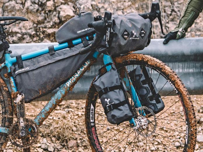Geosmina lightweight weatherproof bikepacking bags fork