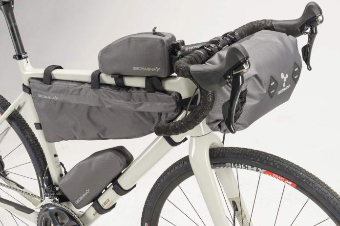 Geosmina lightweight weatherproof bikepacking bags