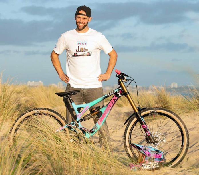 Muc-Off Vice & Ben Deakin 'The Deakinator', it's just a t-shirt. No custom DMR/Pivot bike for you!