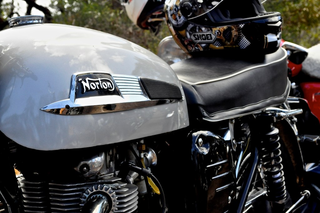 CAPTION: Lovely old Norton (Dominator?).