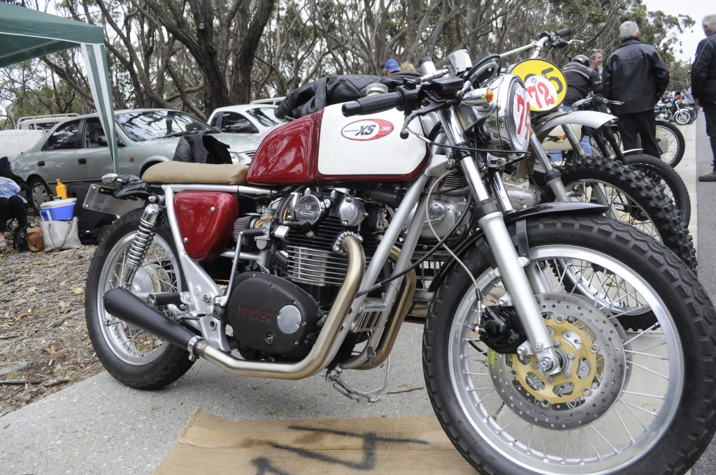 CAPTION: Attention to detail on Alan Wells' 750cc 1972 Yamaha XS650 (you know what we mean) was stunning.