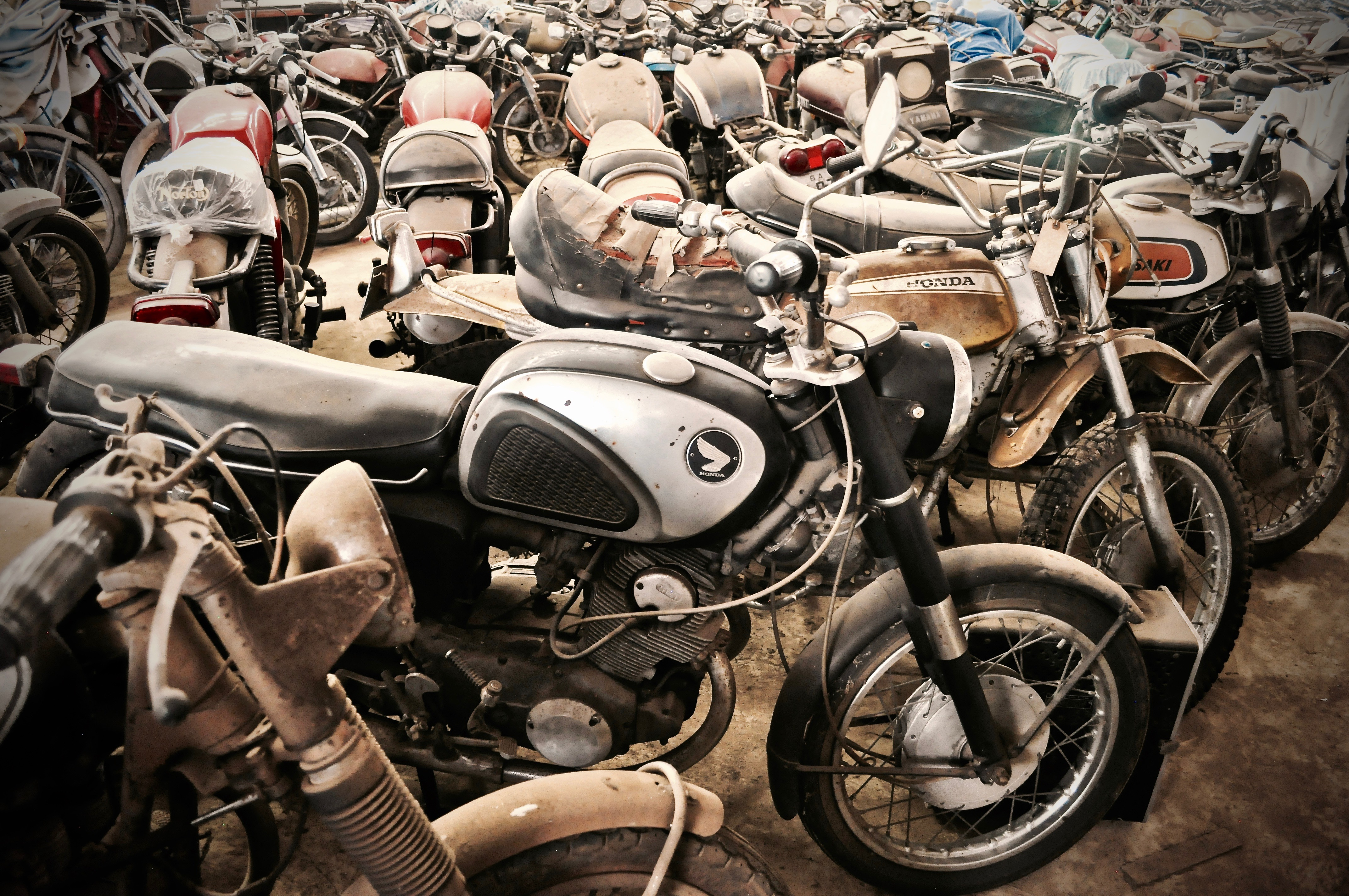 The man they call Toad, and his lifetime collection of bikes