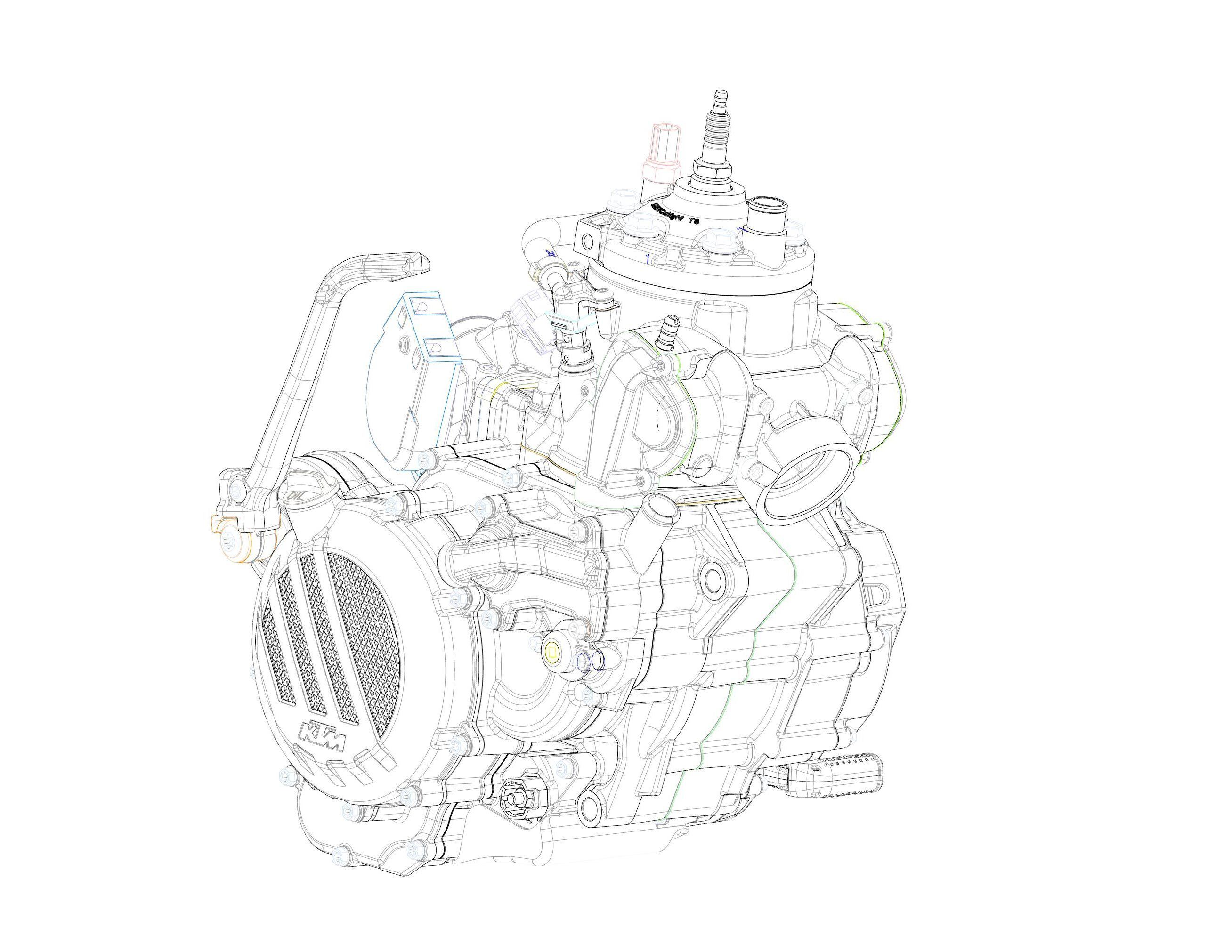 Ktm Introduces Fuel Injected Two Stroke Engine For