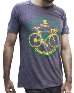 Camiseta Timeline Brazil 1972 cinza chumbo