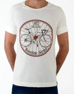 Camiseta Timeline Brazil 1972 bege