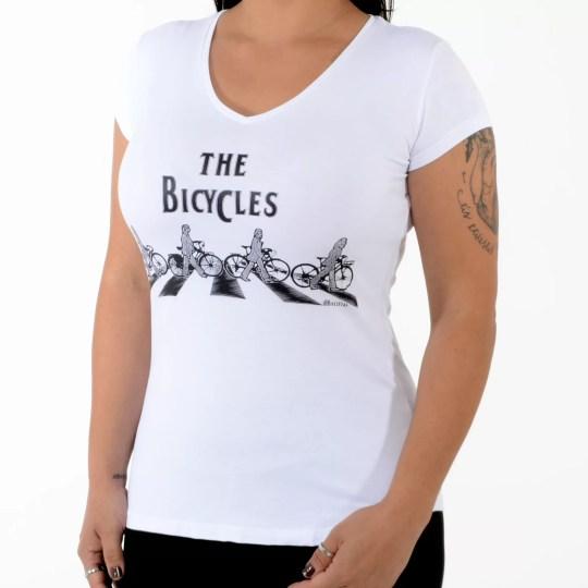 Camiseta The Bicycles branca