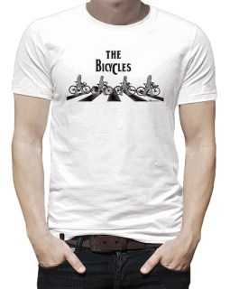 Camiseta casual masculina - The Bicycles branca