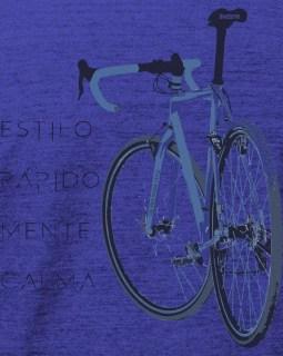 Camiseta casual estilo rápido / Coleção Classic Line - azul