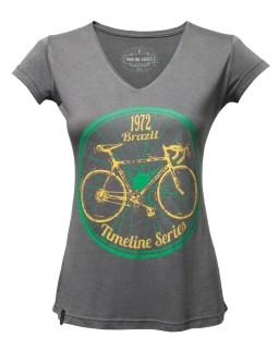 Camiseta Timeline Brazil 1972 cinza