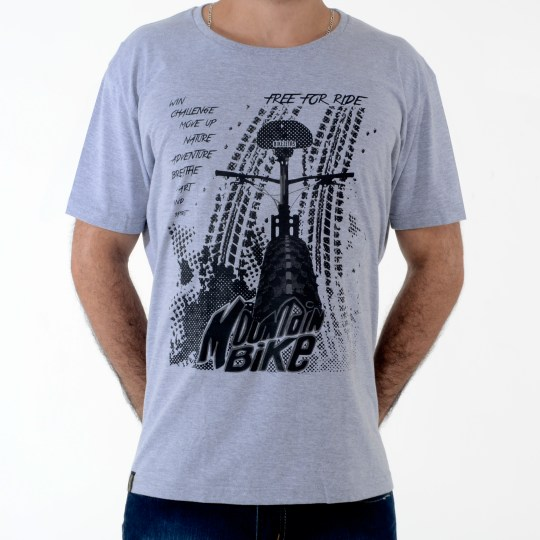 Camiseta Mountain Bike - cinza
