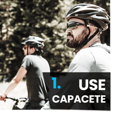5 Dicas iniciantes mountain bike - use capacete