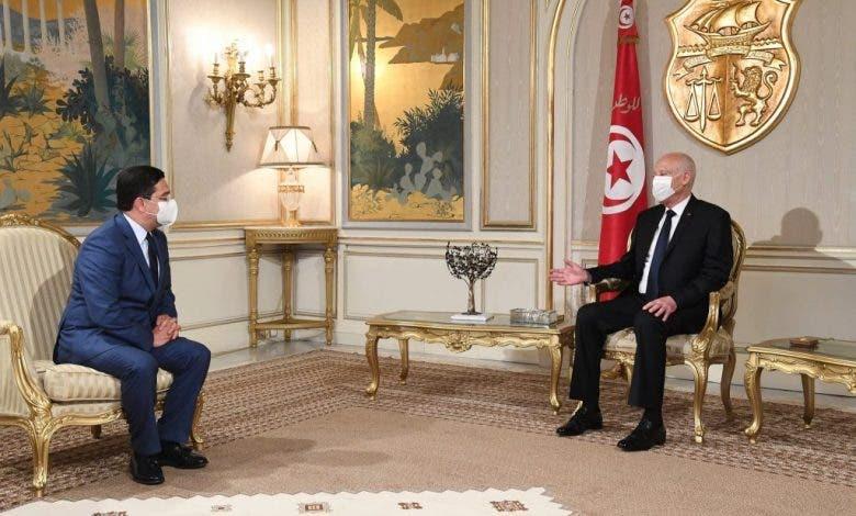 الرئيس التونسي يستقبل ناصر بوريطة محملا برسالة من الملك محمد السادس