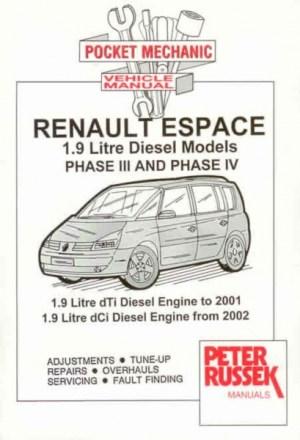 Peter Russek reparasjonshåndbok Renault Espace Mk3 Mk4