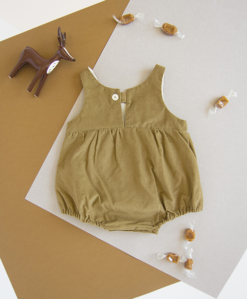 vetement bebe unisexe beige salopette barboteuse bloomer robe lyon
