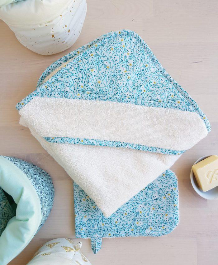cape de bain bebe cadeau niassance france made unisexe cadeau toilette sortie linge nouveau ne lyon gant toilette