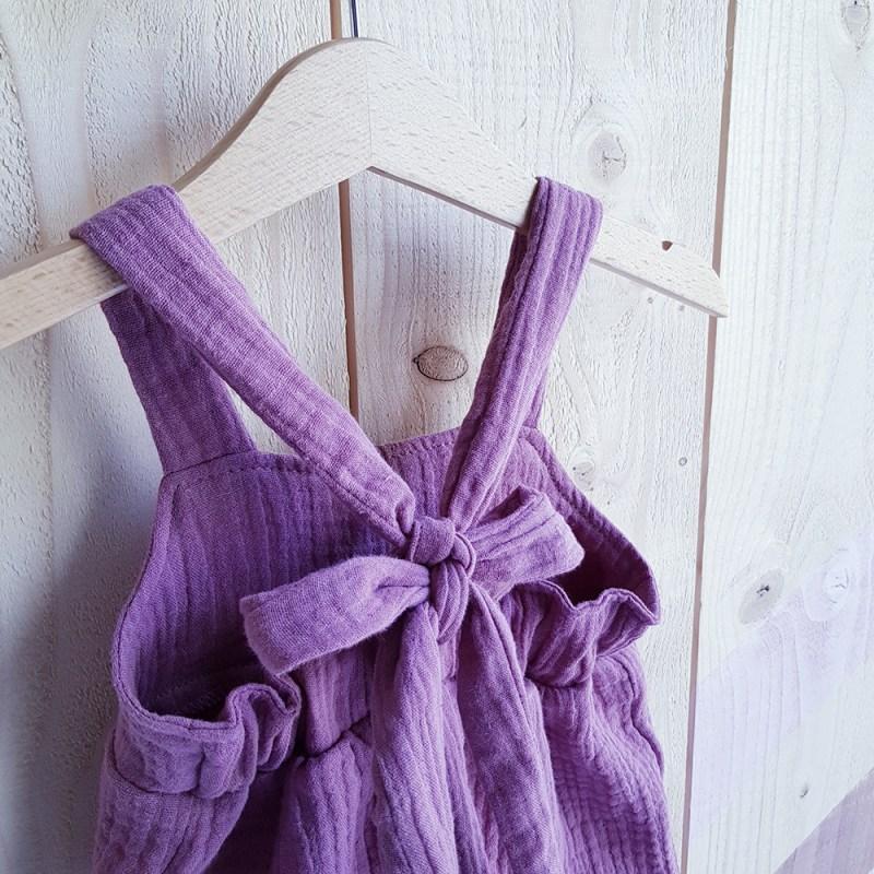 combinaison salopette bretelles bebe france lyon vetement fille rose robe longue