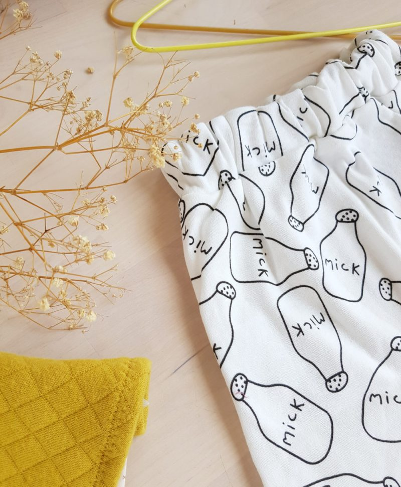 pantalon bebe garcon sarouel createur original cadeau noel blanc