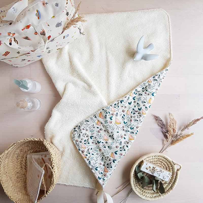 serviette bebe cape bain eponge tapis langer nomade voyage promenade bebe sac langer bebe fille beige oiseau lyon