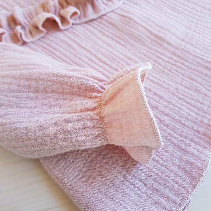 blouse bebe fille rose manche longue automne hiver noel vetement enfant lyon oekotex bilboquet